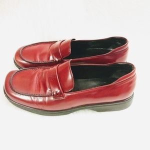 Coach Rae Go J058 Red Leather Slip On Loafer